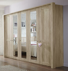 Spiegel-Drehtüren-Kleiderschrank Farim in modernem Design