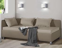 Studioliege Lisala auch als Gästebett bequem