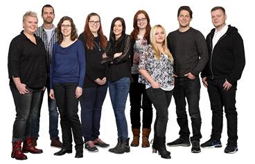 Gruppenfoto vom Kreativteam