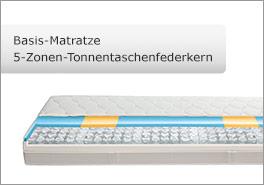 Tonnentaschenfedernkern-Basis-Matratze mit 5 Liegezonen