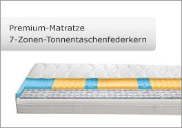 Premium-Tonnentaschenfederkern-Matratze mit 7 Liegezonen