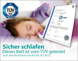 LIFETIME sichere Betten mit TÜV-Siegel