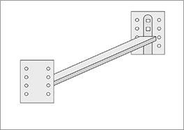 Verbindungsbeschlag für Doppelbett Runcorn