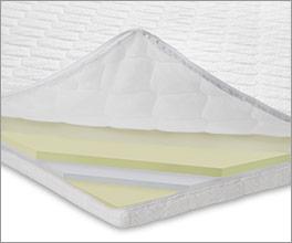 Viscoschaum-Topper medium für optimalen Schlafkomfort