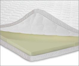 Viscoschaum-Topper weich als komfortable Schlafunterlage