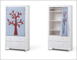 Vorhang-Kleiderschrank Kids Heaven mit drei höhenverstellbaren Einlegeböden
