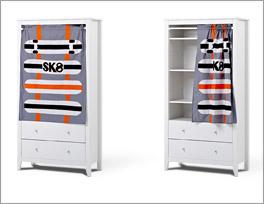 Vorhang-Kleiderschrank Kids Heaven inklusive zwei Schubladen