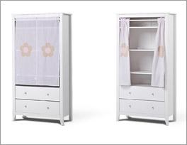 Schöner Vorhang-Kleiderschrank Kids Heaven mit Stauraum