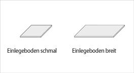 Kleiderschrank-Zubehoer Einlegeboden in schmal oder breit