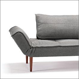 Zweisitzer-Schlafsofa Lescott mit klappbarer Armlehne