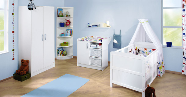 babyzimmer viktoria aus wei lackierter kiefer massivholz. Black Bedroom Furniture Sets. Home Design Ideas
