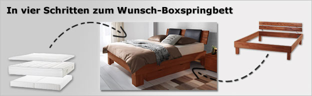 boxspring einlegesystem mit passenden bettgestellen. Black Bedroom Furniture Sets. Home Design Ideas