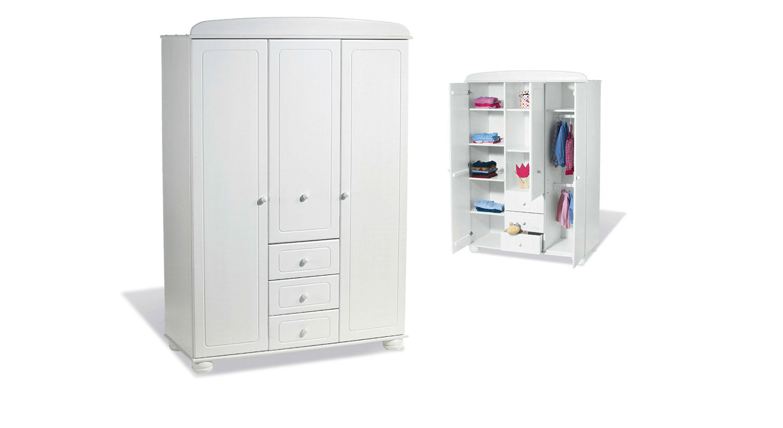 kinder kleiderschrank aus fichte auf rechnung clara. Black Bedroom Furniture Sets. Home Design Ideas