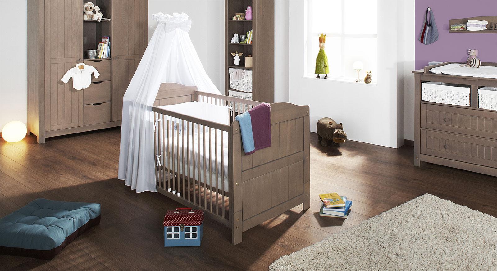 Kinderbett Lina graubraun lasiert