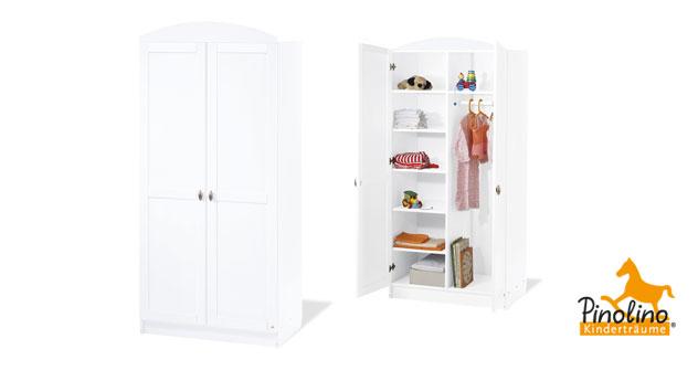 Kleiderschrank Svea Weiß Variante 01 2 Türen