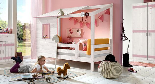 abenteuerbett aus massivholz für mädchen - kids paradise, Hause deko