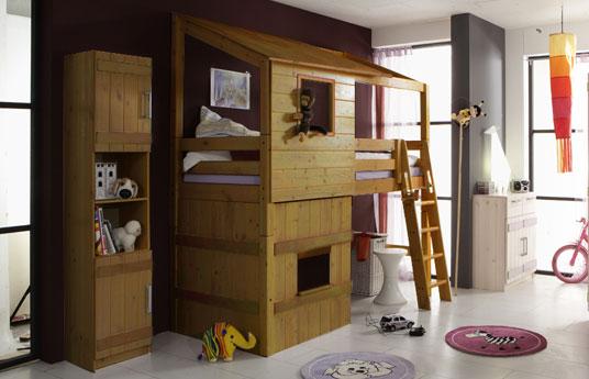 abenteuerbett als hochbett kids paradise f r ihr kinderzimmer. Black Bedroom Furniture Sets. Home Design Ideas