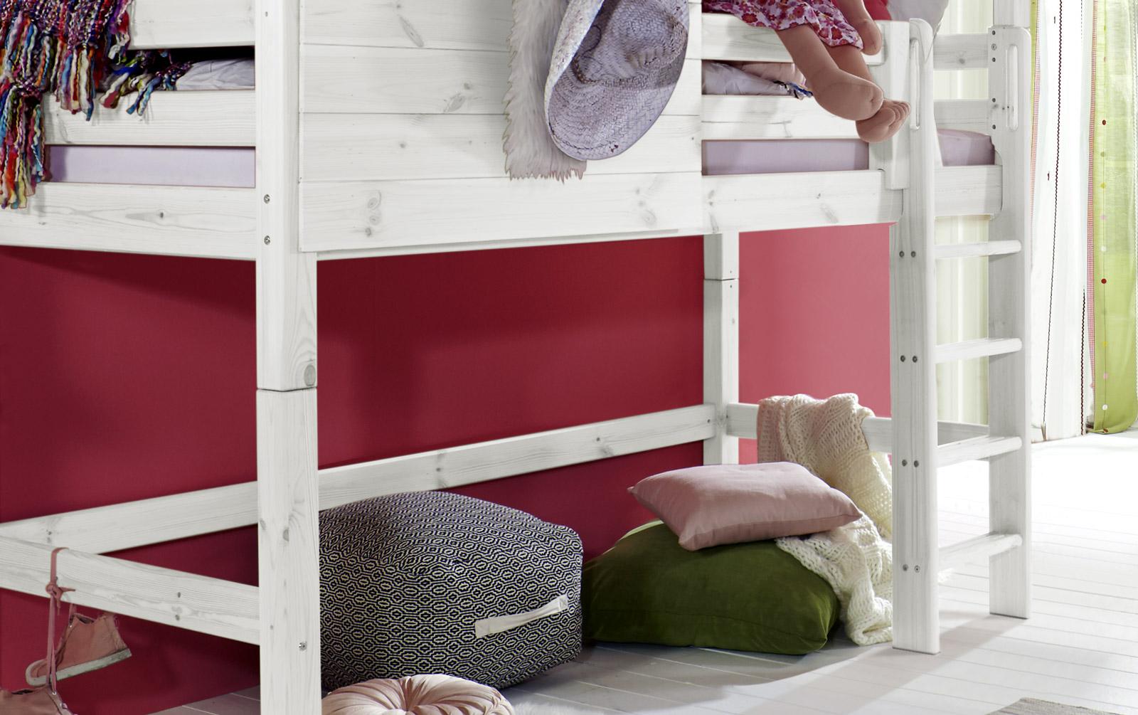 Etagenbett Mädchen : Extra hohes abenteuer hochbett für mädchen kids paradise