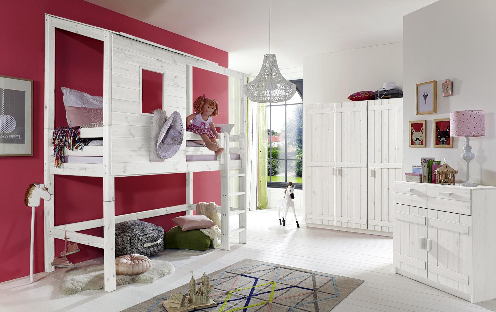 extra hohes abenteuer-hochbett für mädchen - kids paradise, Hause deko