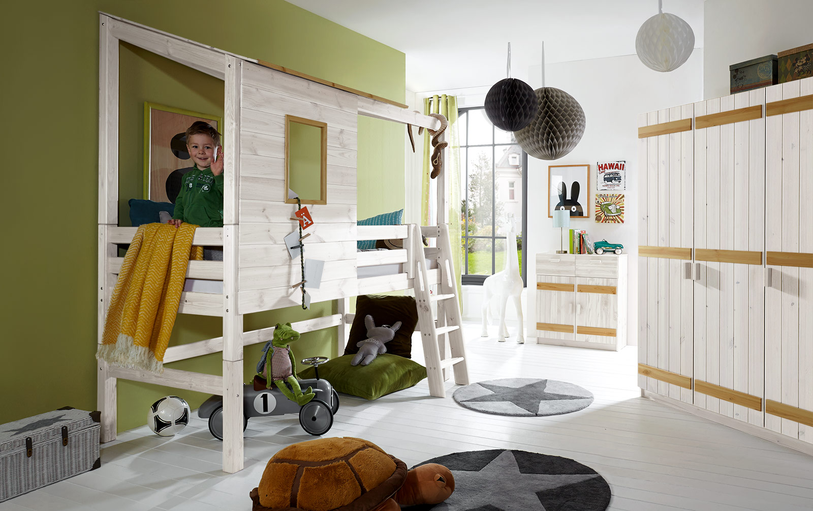 abenteuerbett als hochbett kids paradise f r ihr kinderzimmer. Black Bedroom Furniture Sets. Home Design Ideas