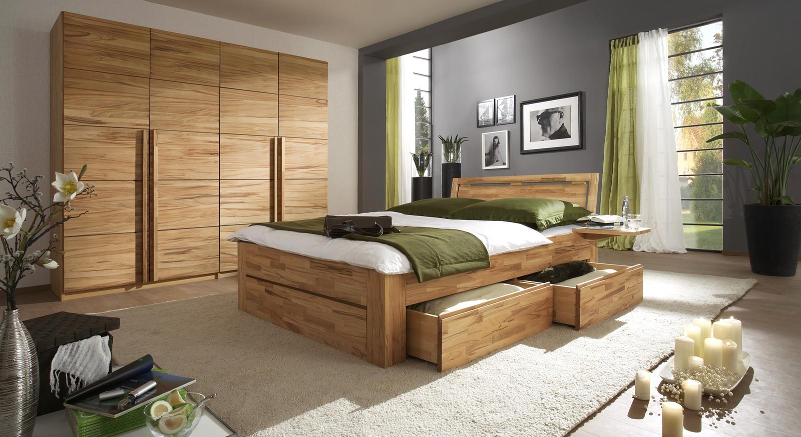 Komplett schlafzimmer aus massivholz andalucia - Schlafzimmer massivholz modern ...