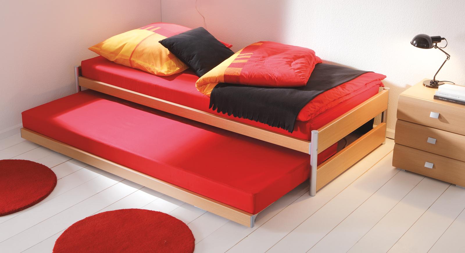 Einzelbett mit unterbett weiß  Günstiges Ausziehbett mit zwei Liegeflächen - Louis | BETTEN.de