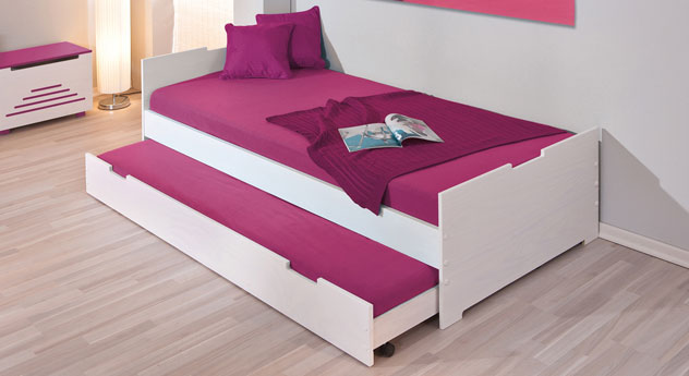 kinderbett ausziehbarem unterbett und schubladen die neueste innovation der innenarchitektur. Black Bedroom Furniture Sets. Home Design Ideas