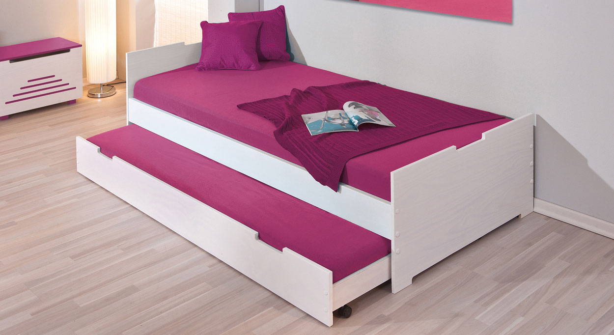 bett mit unterbett weiss die m bel f r die k che. Black Bedroom Furniture Sets. Home Design Ideas
