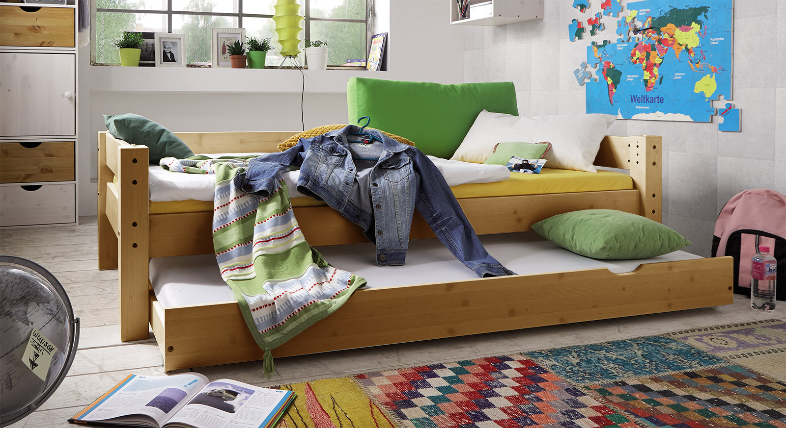 Ausziehbett Kids Dreams in Kiefer gelaugt geölt