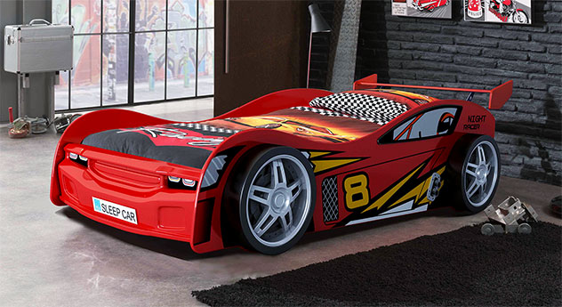 Rot lackiertes Auto-Kinderbett Spirit
