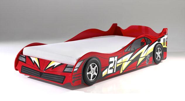 Autobett Dreamchaser mit Rennauto-Aufschrift