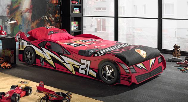 Rot lackiertes Autobett Dreamchaser