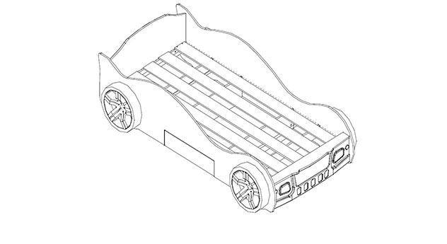 Darstellung des Lattenrostes beim Autobett Drift