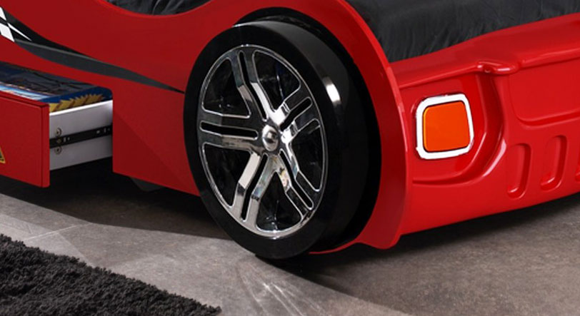 Feststehender Fuß vom Autobett Drift rot