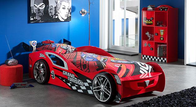 Autobett Hero rot mit passendem Produkt