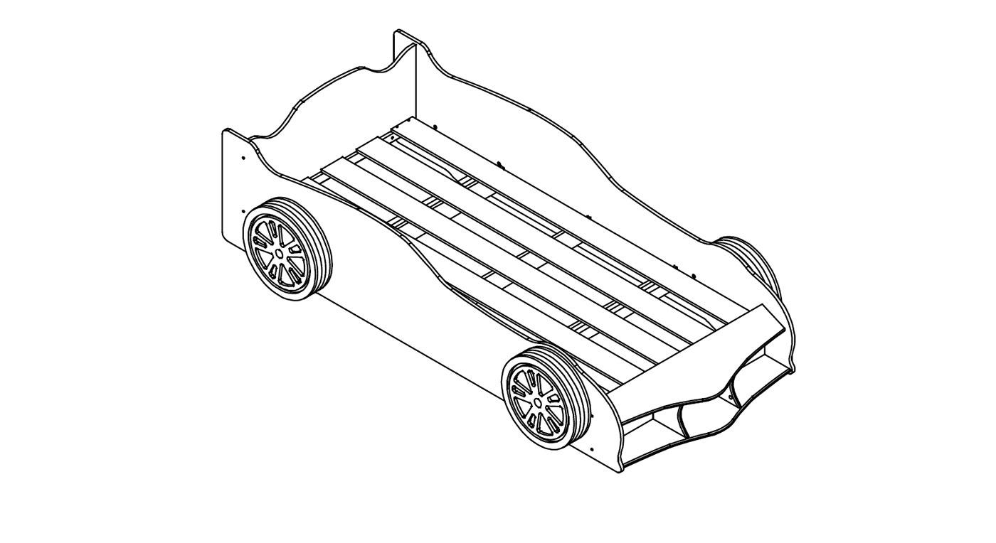 Darstellung des Lattenrostes vom Autobett Sprint