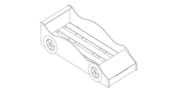 Autobett mit Stauraumfach inklusive Lattenrost