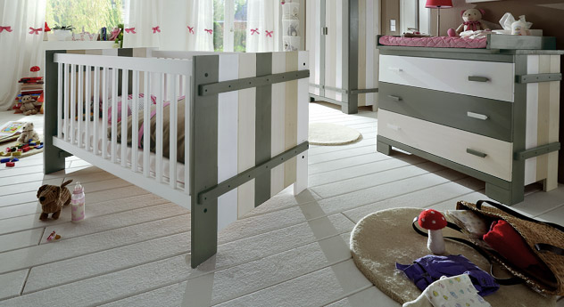 Babybett Kids Paradise Laubhütte mit Lattenrost online kaufen