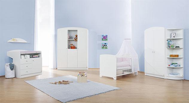 Babyzimmer Jil in Uni-Dekor weiß