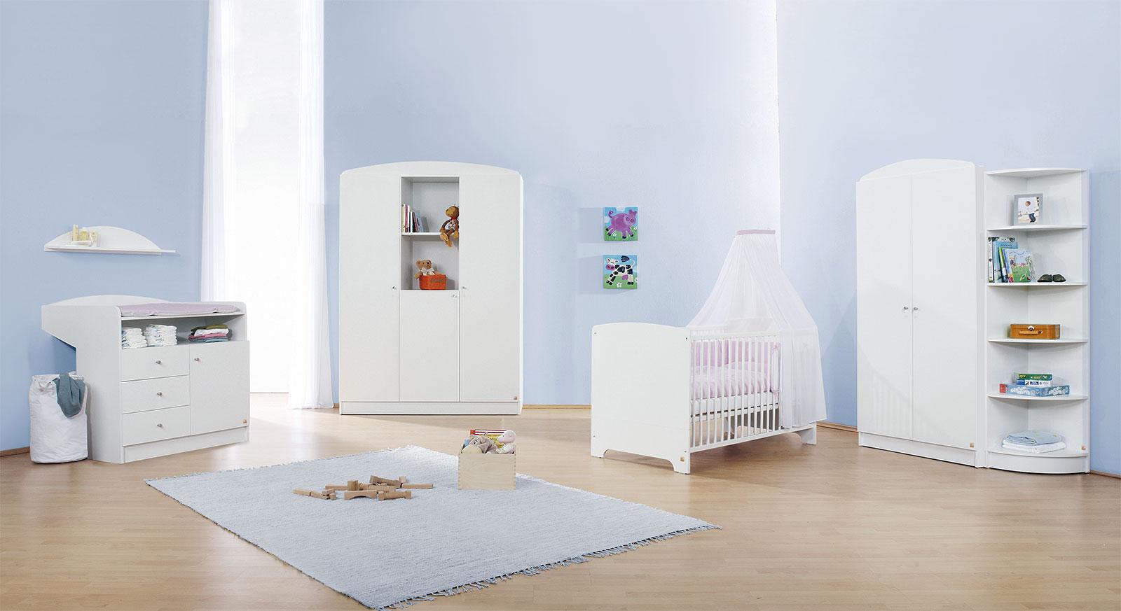 Babyzimmer Jil in Uni Dekor weiß