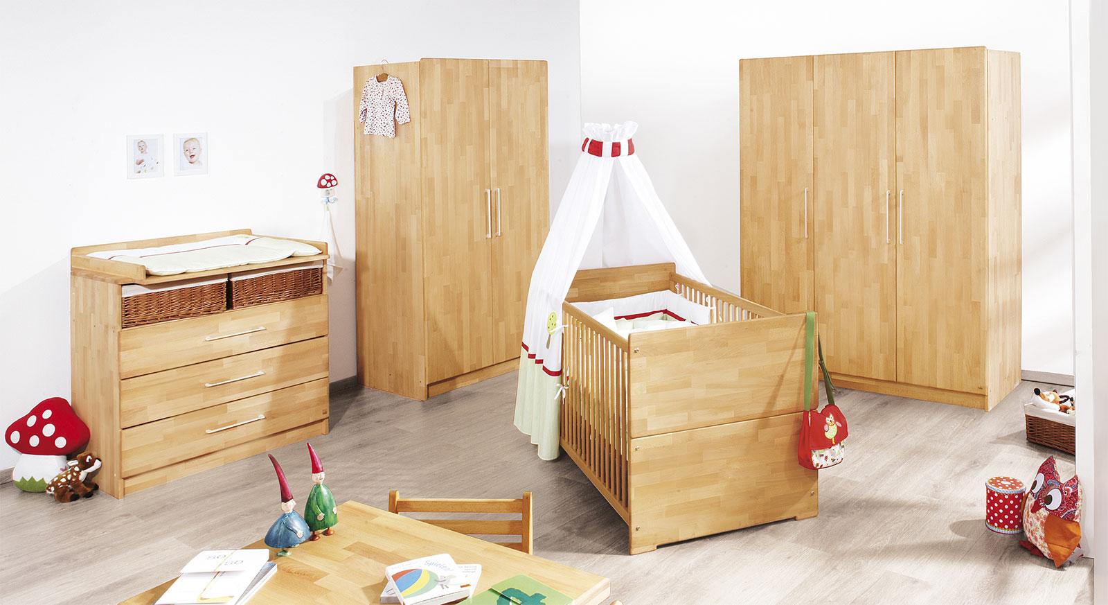 Kinder-Kleiderschrank wahlweise mit 2 oder 3 Türen - Natura | {Kinderzimmer buche 93}