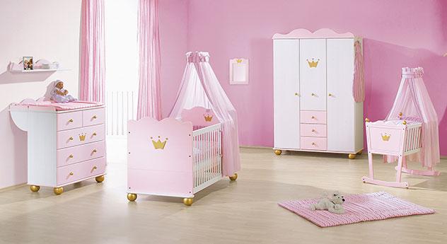 Babyzimmer Prinzessin Karolin in rosa mit Krone
