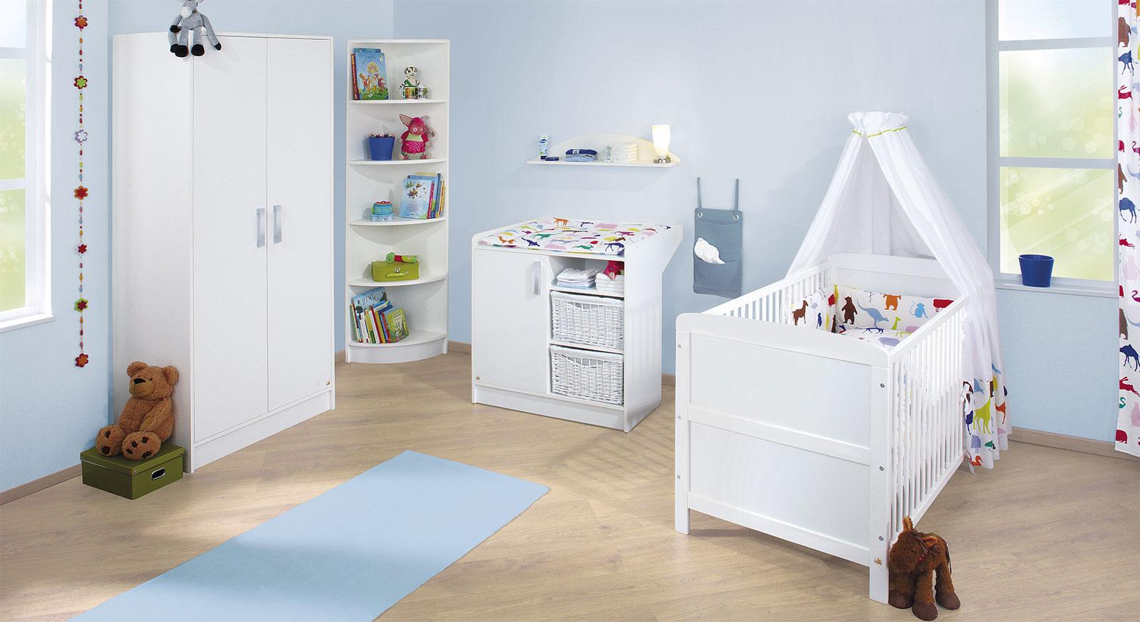 Babyzimmer Viktoria in Weiss uni
