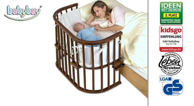 Beistellbett BabyBay Original in Buche dunkelbraun
