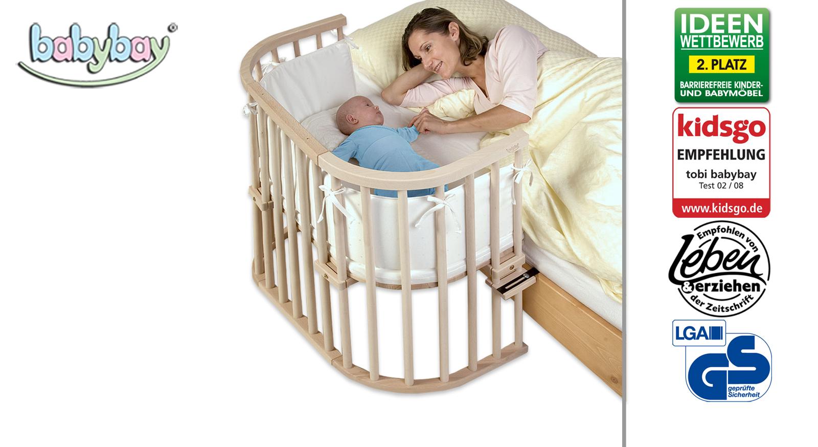 Beistellbett BabyBay Original in Buche natur