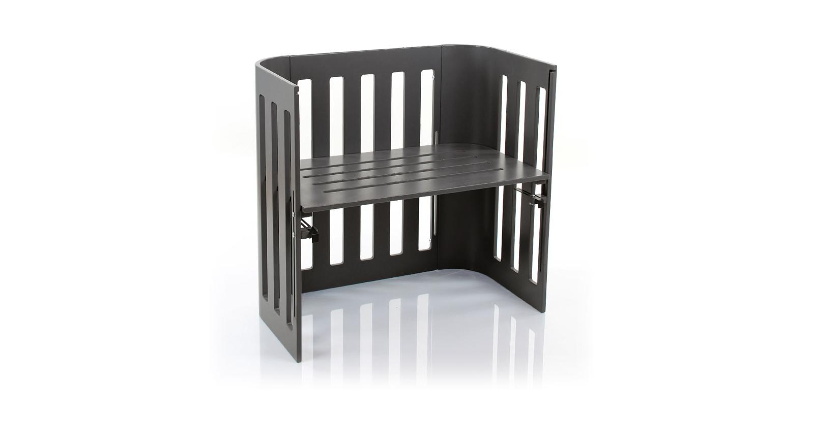 Beistellbett BabyBay Trend in Grau mit bester Luftzirkulation