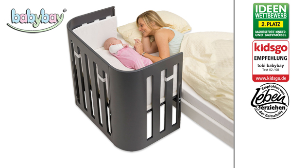 Beistellbett BabyBay Trend in Grau