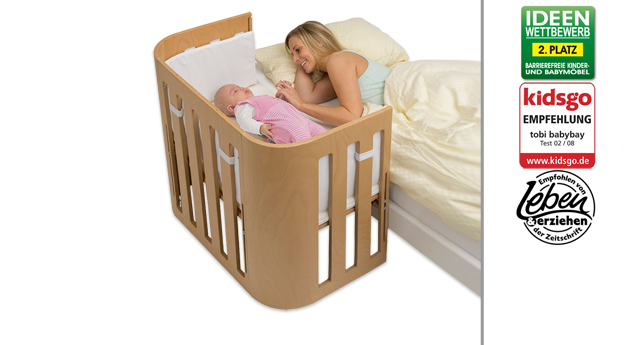 Beistellbett BabyBay Trend in natur lackiert