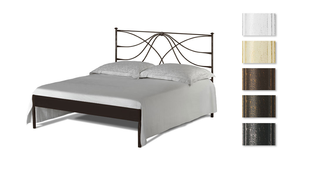 metallbett 140x200 cm in weiß mit hohem kopfteil - arica, Hause deko