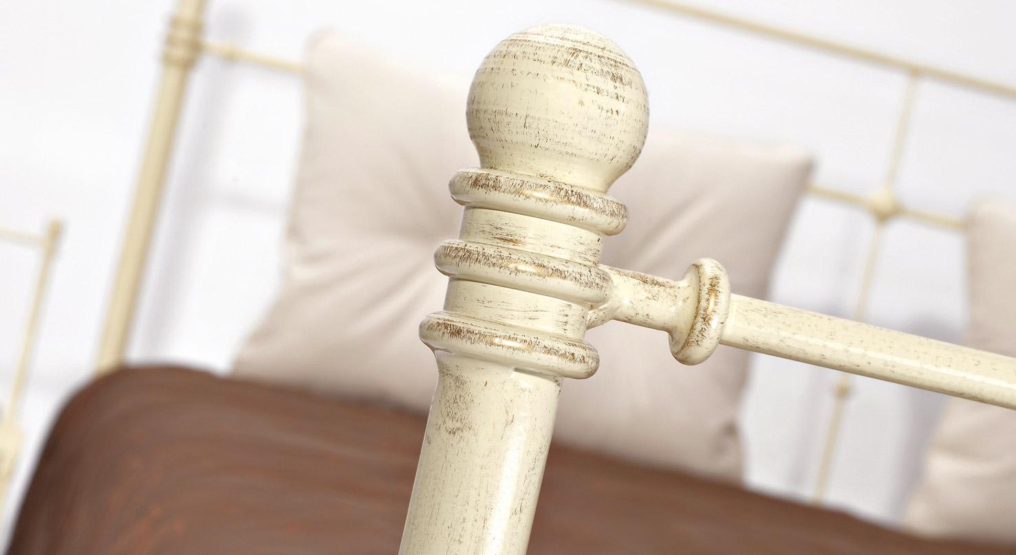 Fußteil des Bettes Astara in Creme, gold-gewischt